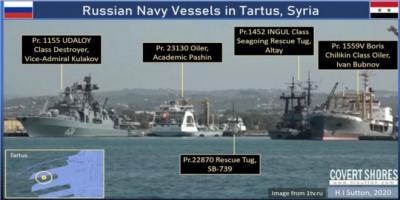 """البحرية الروسية ترافق ناقلة النفط الإيرانية """"سماح"""" إلى سورية"""
