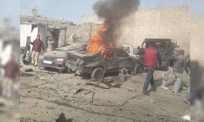 إصابة مدنيين إثر انفجار سيارة مفخخة في مدينة الباب بريف حلب الشرقي