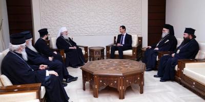 الرئيس الأسد يستقبل البطريرك إريناوس