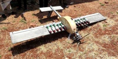 الجيش يسقط طائرة مذخرة بقنابل شديدة الانفجار بريف حماة الشمالي