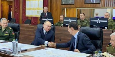 برفقة الأسد بوتين يزور الجامع الأموي و ضريح القديس يوحنا المعمدان