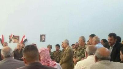 زيارة نادرة لرئيس المخابرات الجوية السورية إلى درعا