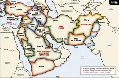 الشرق الأوسط الذي ترغب بخلقه امريكا واسرائيل